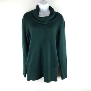 NWT Calvin Klein Green Cow Neck Sweater Size Small